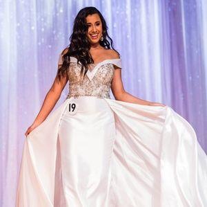 Tony Bowls White Prom Pageant Dress
